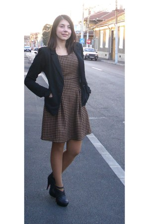 New Yorker dress - black Bershka blazer