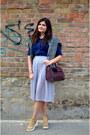 Dark-gray-pimkie-sweater-heather-gray-sheinside-shorts-navy-zara-blouse