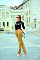 black Sheinside jacket - burnt orange Mango panties - black kurtmann blouse