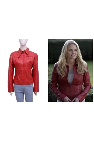 red Getmyleather jacket