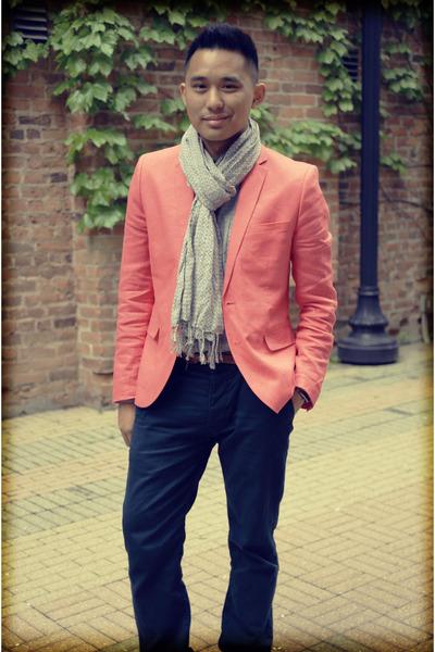 linen H&M Trend blazer - cotton Top Shop shirt - cotton we scarf