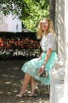 light blue tutu DressLink skirt - white polka dots OASAP shirt