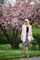 light pink H&M purse - light pink Sheinside coat - black H&M top
