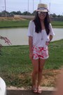 White-lucky-brand-shirt-hot-pink-marimekko-shorts