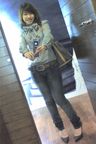 fLuff bouTiQue shirt - next belt - insighT 51 jeans - Guess shoes
