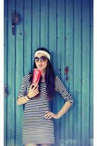 reserved dress - H&M hat - SIX sunglasses - headband DIY accessories