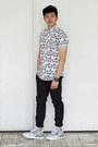 Black-faux-leather-topman-hat-white-rabbit-topman-shirt