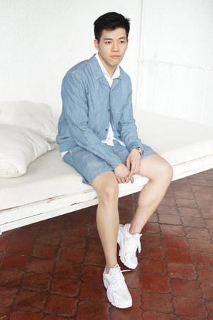sky blue chambray Uniqlo jacket - white oxford Topman shirt