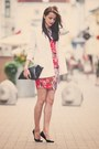 White-reserved-cardigan-red-iris-janvier-dress-beige-mango-heels
