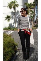 Cartier scarf - H&M purse - Nine West boots - Angeles Almuna Design accessories