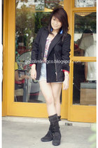 Geox boots - MNG blazer - Zara shorts - Altera top