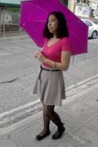 shorts - Figlia flats - plain v-neck bench blouse - printed stockings