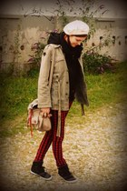 escada hat - Anarchistic Neurotic Alien jacket - pieces bag - Venice sneakers