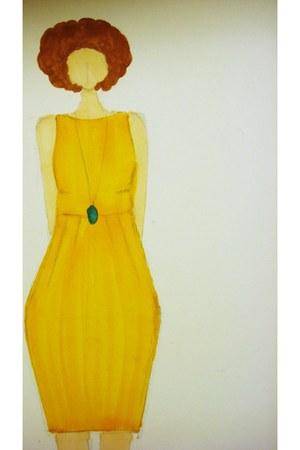 gold Elin Blomgren Designs dress