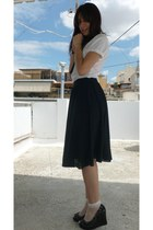 Zara shirt - Zara skirt - wedges