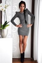 black Buffalo London boots - heather gray Amisu dress