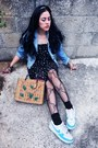Stars-printed-zara-dress-picnic-esprit-bag-air-nike-sneakers