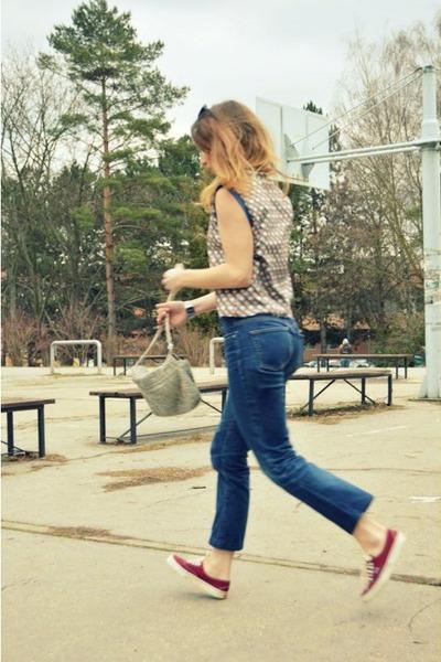 Vans shoes - Zara top - Guess pants