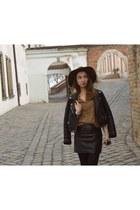 Zara hat - Stradivarius jacket - H&M skirt - new look top