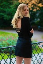 black Zara dress - underwear simone perele accessories