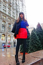 Studded-suede-zara-boots-cropped-h-m-sweater-leather-mango-skirt