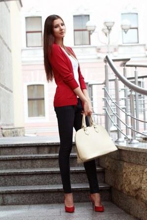cream Zara bag
