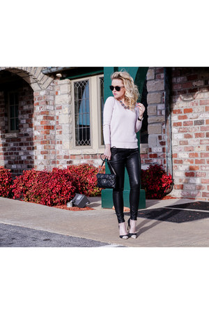 black faux leather banana republic leggings