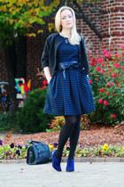 blue Elie Tahari shoes - navy Target dress - dark gray Target hat