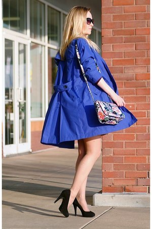 blue cotton coat