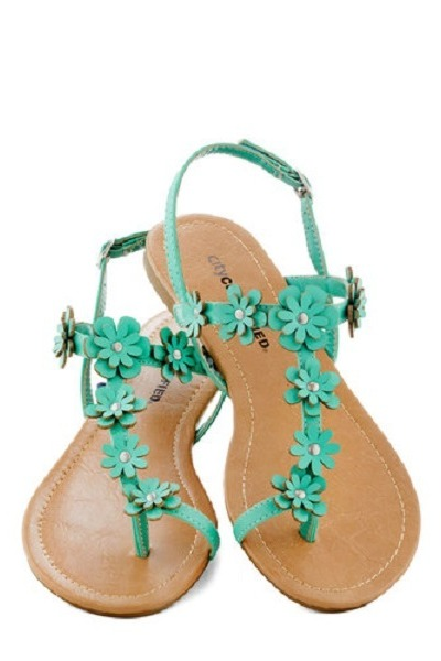 turquoise blue modcloth flats