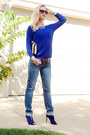 Navy-miss-me-jeans-blue-american-eagle-sweater-beige-dana-buchman-bag