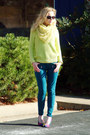 Hot-pink-narciso-rodriguez-coat-teal-aeropostale-jeans