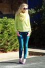 Hot-pink-narciso-rodriguez-coat-teal-aeropostale-jeans