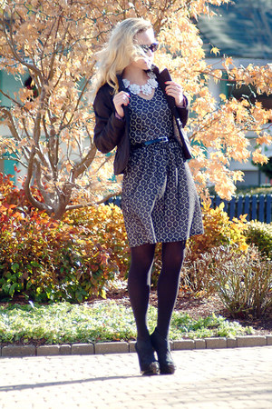 black TJ Maxx dress - black Sultanna Frantsuzova jacket