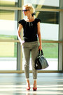 Black-london-fog-bag-heather-gray-h-m-pants-black-ralph-lauren-top