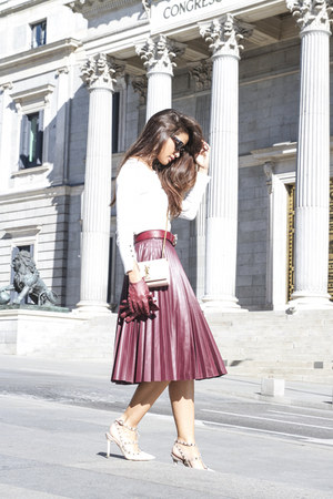 suiteblanco skirt - Valentino shoes - Celine sunglasses - Zara cardigan