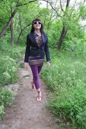 purple Calliope leggings