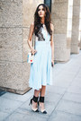 Sky-blue-pleated-chicwish-dress-white-olympia-le-tan-bag