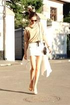 no name sweater - Chanel bag - vintage sunglasses - Christian Louboutin heels