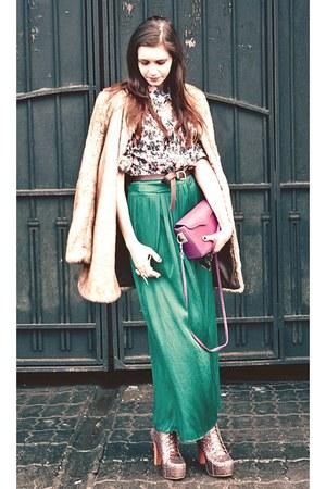 Zara skirt - Jeffrey Campbell boots - gift shirt - 31 Phillip Lim cape