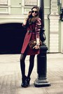 Brick-red-with-leather-sheinside-coat-crimson-leopard-fur-tory-burch-bag
