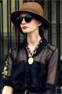 Nude-zara-heels-tawny-vintage-hat-black-zara-skirt-black-h-m-belt