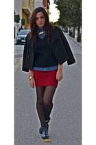Zara boots - Zara jacket - H&M shirt