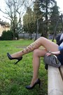 Nude-calzedonia-tights-gray-cristina-gavioli-bag-guess-shorts