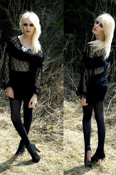 black Self-Sewn shirt - black Self-Sewn skirt