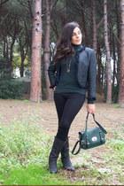 teal Sisley jacket - black SISI leggings