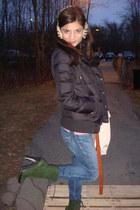 dark green Diane Von Furstenberg boots