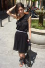 Black-oysho-dress-black-aldo-shoes-shoes-black-botkier-accessories-purple-