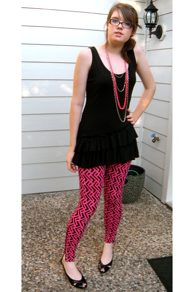 Alexander McQueen for Target leggings - Charlotte Russe dress - Claires necklace