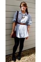 Windridge shirt - belt - Arizona necklace - Anne Klein accessories - Poof leggin
